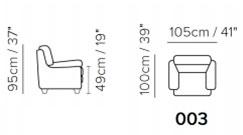 Кресло Softaly B627 (Италия)