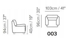 Кресло Softaly B741 (Италия)