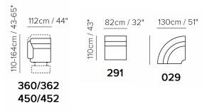 Угловой итальянский диван Softaly u076