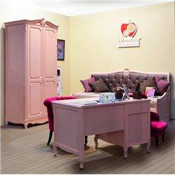 Диван Оливия с ящиками розовый