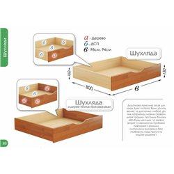 Кровать Нота из бука