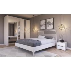 Кровать Вейв белая