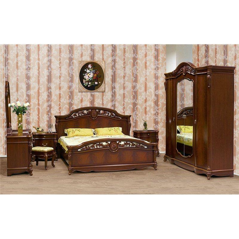 Кровать Жозефина темный  орех