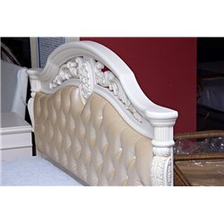Кровать Жозефина белая с мягким изголовьем