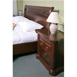 Кровать Шопен из ольхи высокая
