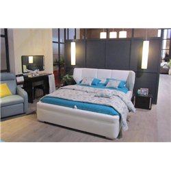 Белая кровать из экокожи SBA Braciata